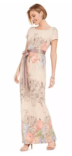 Adrianna Papell - Floral-Print Column gown
