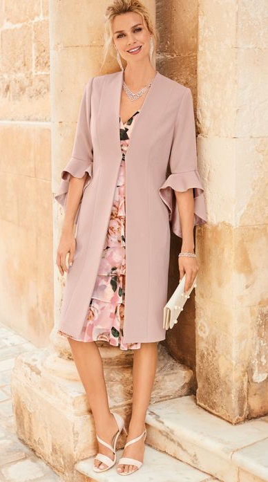 Frill Sleeve Dress Coat