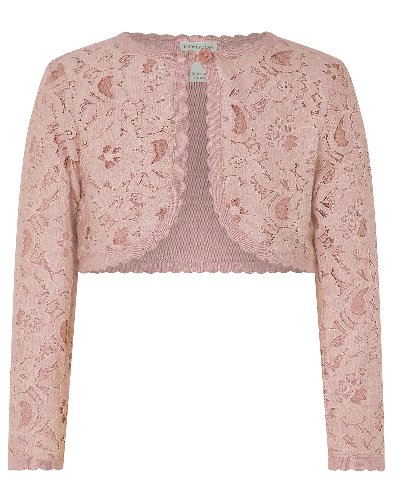 Monsoon Eliona cropped lace cardigan