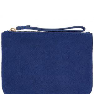 Accessorize Blue Leather Pouch Bag