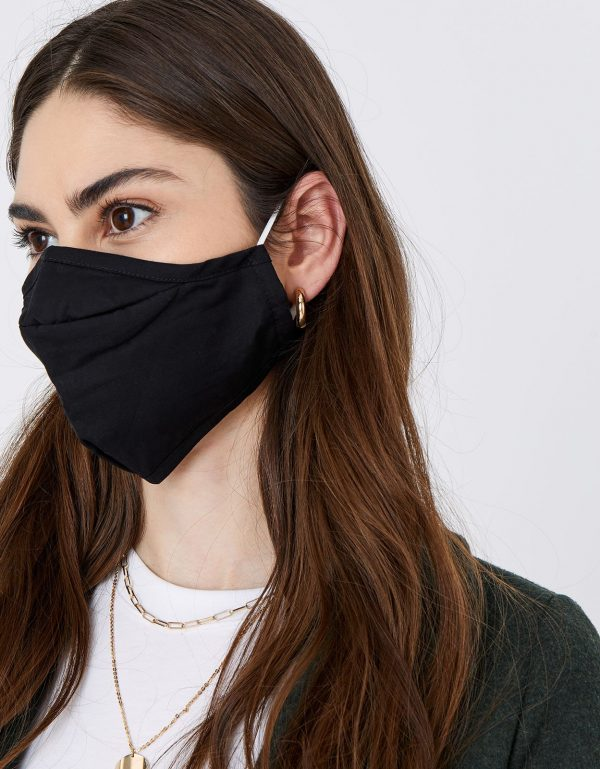 3D Face Covering with Pocket in Pure Cotton