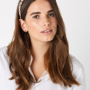Accessorize Ladies Beige and Black Stylish Animal Macramé Headband
