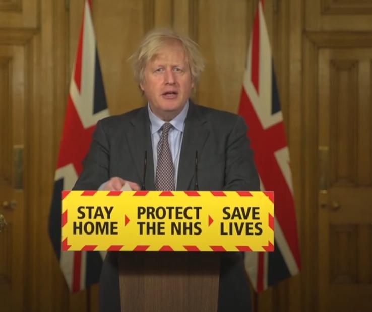 Boris announcing lockdown roadmap
