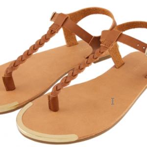 Plaited Strap Sandals Tan