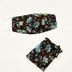 Monsoon Floral Face Mask in Sustainable Viscose