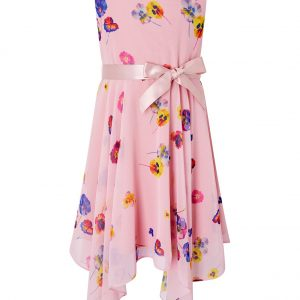 Monsoon Helen Dealtry Nicamille Dress in Recycled Fabric Pink