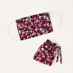 Monsoon Floral Face Mask in Pure Cotton