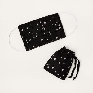 Monsoon Star Print Face Mask in Pure Cotton