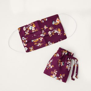 Monsoon Floral Pleated Face Mask in Pure Cotton
