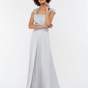 Monsoon Silver Natasha Jersey Maxi Multiway Bridesmaid Dress