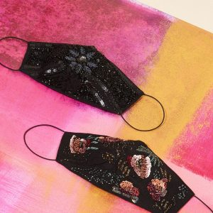 Monsoon Bead and Sequin Embellished Face Mask