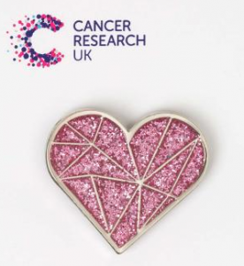 Cancer Research UK - Sparkly Pink Heart - Wedding Favour